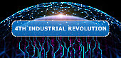 fourth industrial revolution technology concept