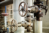 Industry gas and oil pipes
