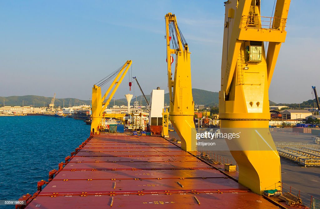 Industry ship with in loading port : Stock Photo