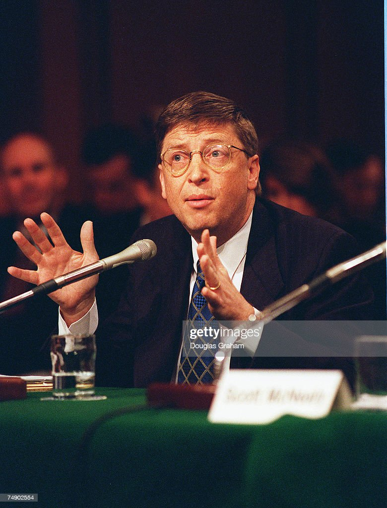 INDUSTRYBill Gates chairman and CEOMicrosoft Corp during a Senate Judiciary Committee hearing on market power and structural change in the software...