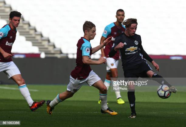 Indy Boonen of Manchester United's Under 23 during Premier League 2 Division 1 match between West Ham United Under 23s and Manchester United Under...