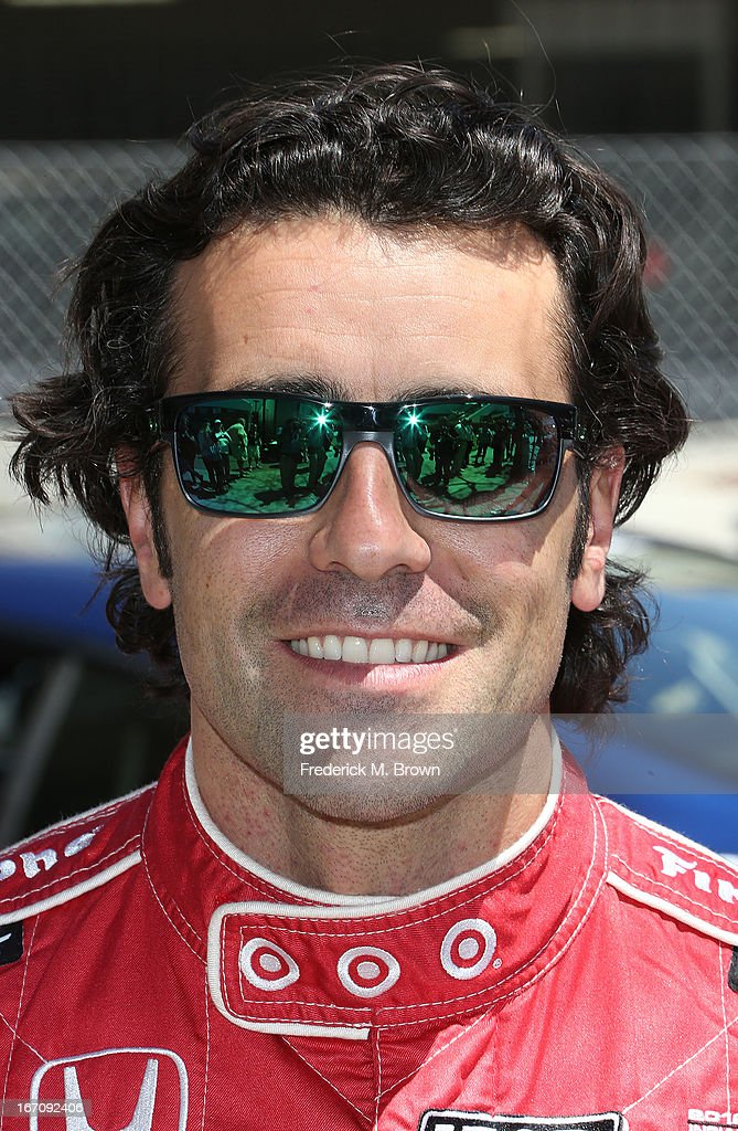 Indy Car driver <a gi-track='captionPersonalityLinkClicked' href=/galleries/search?phrase=Dario+Franchitti&family=editorial&specificpeople=171306 ng-click='$event.stopPropagation()'>Dario Franchitti</a> attends the 37th Annual Toyota Pro/Celebrity Race qualifying on April 19, 2013 in Long Beach, California.