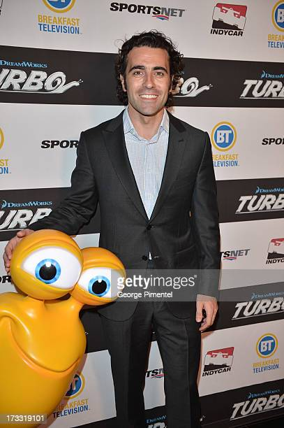 Indy Car Driver Dario Franchitti attends the Toronto Premiere Of 'TURBO' on July 9 2013 in Toronto Canada