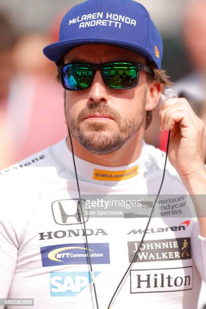 Indycar driver Fernando Alonso of McLarenHondaAndretti during qualifications for the Indianapolis 500 on May 20 at the Indianapolis Motor Speedway in...