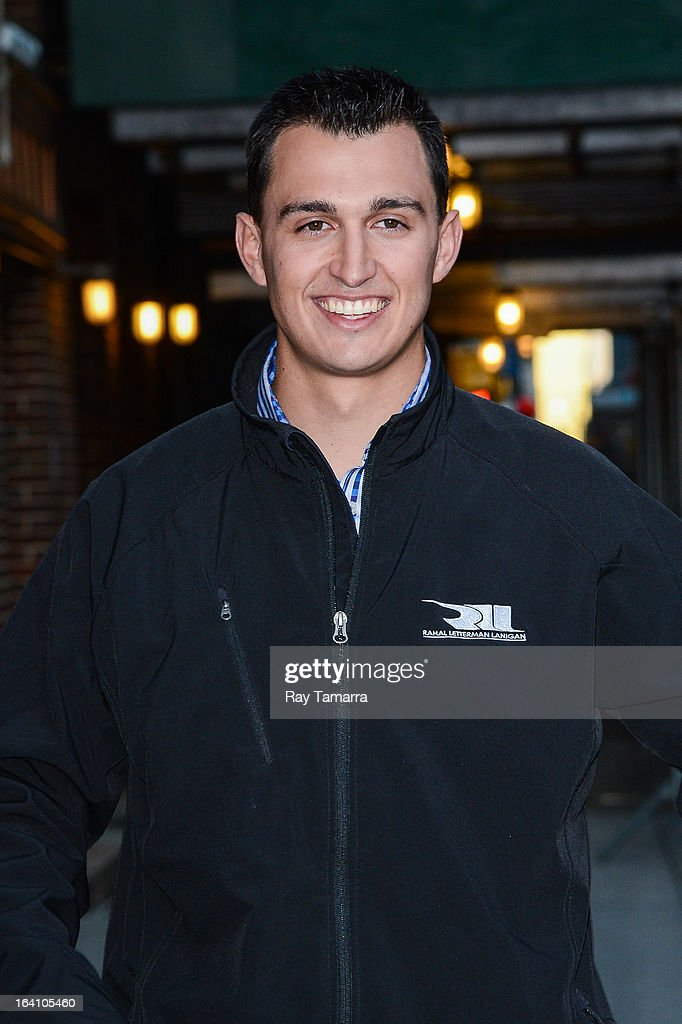IndyCar driver <a gi-track='captionPersonalityLinkClicked' href=/galleries/search?phrase=Graham+Rahal&family=editorial&specificpeople=709487 ng-click='$event.stopPropagation()'>Graham Rahal</a> leaves the 'Late Show With David Letterman' taping at the Ed Sullivan Theater on March 19, 2013 in New York City.