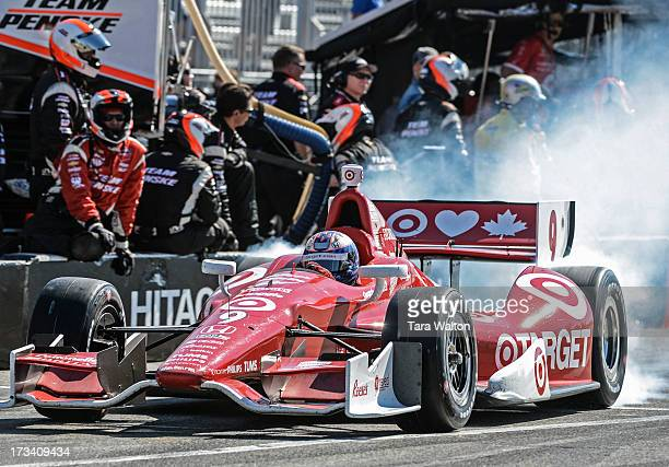 TORONTO ON IndyCar driver Scott Dixon leaves pit lane during Saturday's race at the 2013 Honda Indy in Toronto on the exhibition grounds where he...