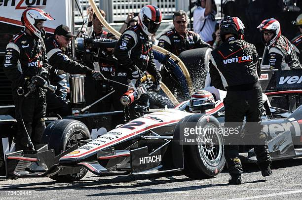 TORONTO ON IndyCar driver Will Power leaves pit lane during Saturday's race at the 2013 Honda Indy in Toronto on the exhibition grounds where he took...