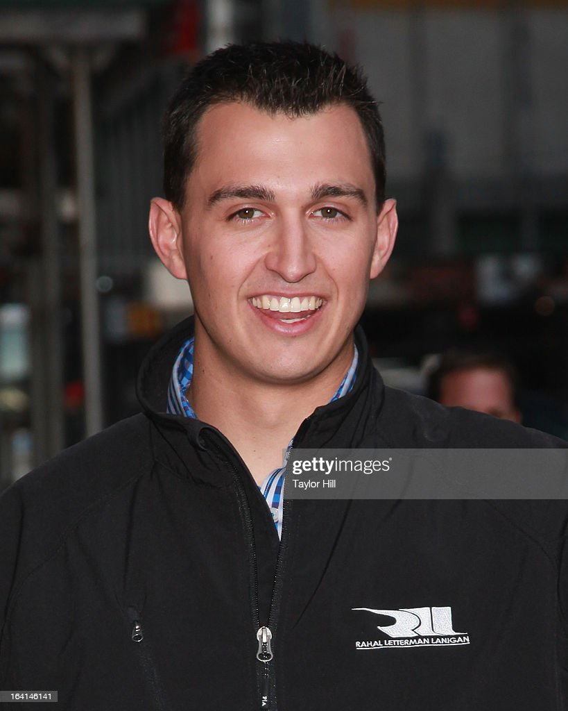 IndyCar Series <a gi-track='captionPersonalityLinkClicked' href=/galleries/search?phrase=Graham+Rahal&family=editorial&specificpeople=709487 ng-click='$event.stopPropagation()'>Graham Rahal</a> departs 'Late Show with David Letterman' at Ed Sullivan Theater on March 19, 2013 in New York City.