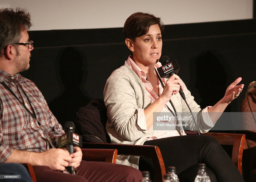 'Inequality For All' producer Jen Chaiken speaks onstage at the Film Independent Forum at the DGA Theater on October 26, 2013 in Los Angeles, California.