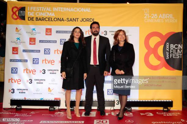 Ines Arrimadas and Xavier Cima attend a photocall of the 1st International Festival of Cinema of BarcelonaSant Jordi at Verdi Cinema on April 21 2017...