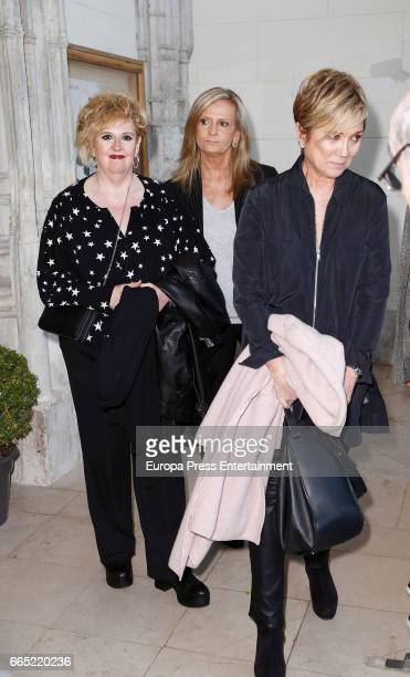 Ines Ballester and Isabel San Sebastian attend the funeral chapel for Paloma Gomez Borrero at Los Jeronimos church on April 5 2017 in Madrid Spain