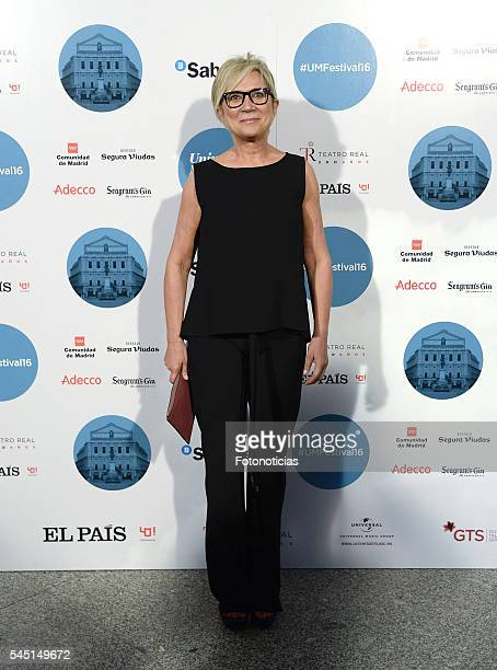 Ines Ballester arrives to the Universal Music Rod Stewart concert at the Teatro Real on July 5 2016 in Madrid Spain