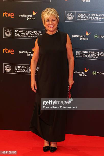Ines Ballester attends 'Regression' Premiere during 63rd San Sebastian Film Festival at Kursaal San Sebastian on September 18 2015 in San Sebastian...