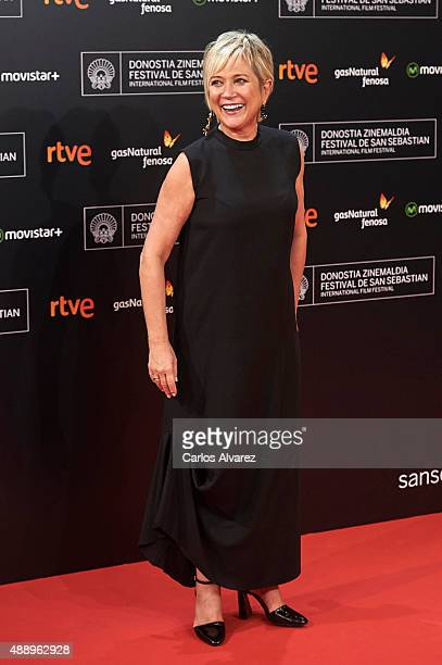 Ines Ballester attends 'Regression' premiere during the 63rd San Sebastian International Film Festival at the Kursaal Palace on September 18 2015 in...