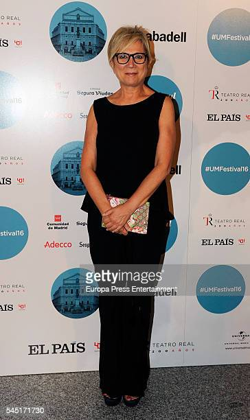 Ines Ballester attends Rod Stewart concert at Royal Theatre on July 5 2016 in Madrid Spain