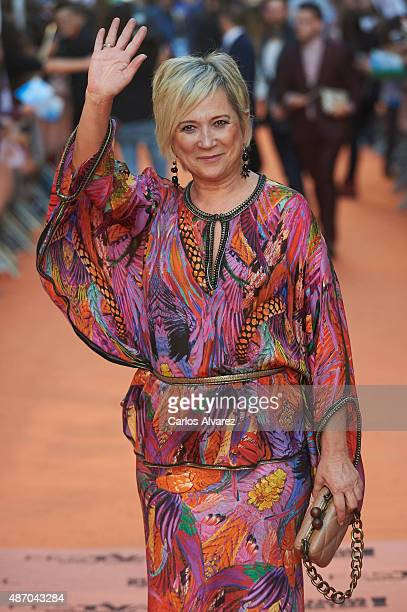 Ines Ballester attends the 7th FesTVal Television Festival 2015 the closing ceremony at the Principal Theater on September 5 2015 in VitoriaGasteiz...