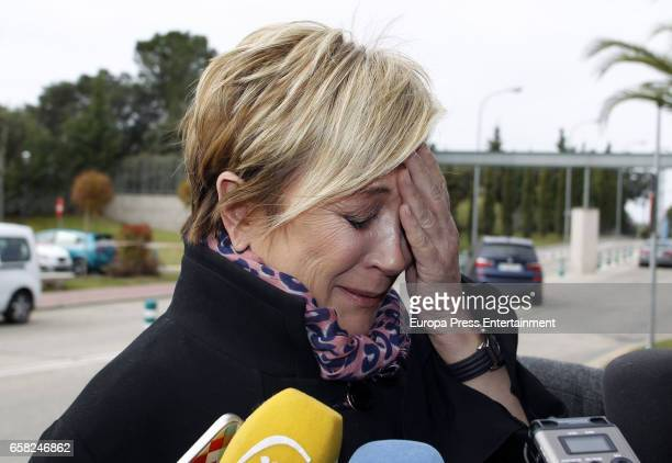 Ines Ballester attends the funeral chapel for Paloma Gomez Borrero on March 25 2017 in Madrid Spain