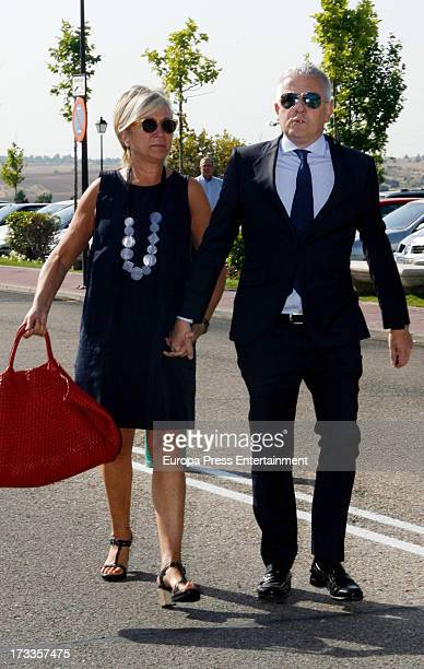Ines Ballester attends the funeral chapel for the journalist Concha Garcia Campoy at La Paz Morgue on July 12 2013 in Madrid Spain