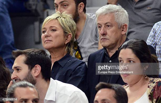 Ines Ballester attends the Turkish Airlines Euroleague Final Four Madrid 2015 Champion Trophy Ceremony at the Barclaycard Center on May 17 2015 in...