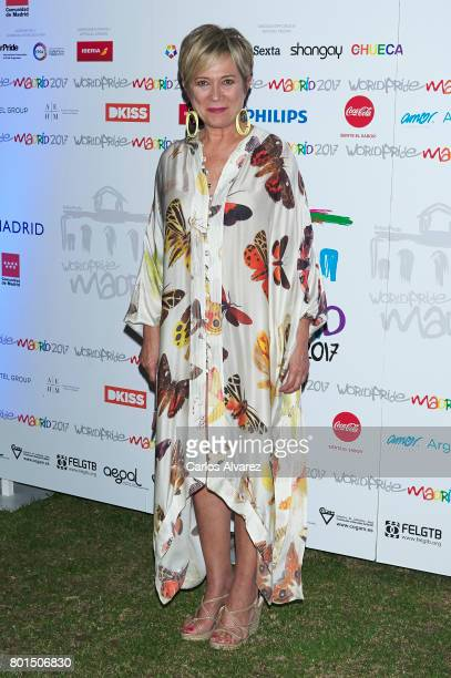Ines Ballester attends the World Pride Award 2017 at the Italian Embassy on June 26 2017 in Madrid Spain