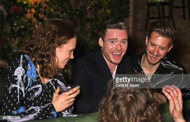 Ines De Clercq Richard Madden and Arthur Darvill attend the launch of The Curtain in Shoreditch on May 11 2017 in London England