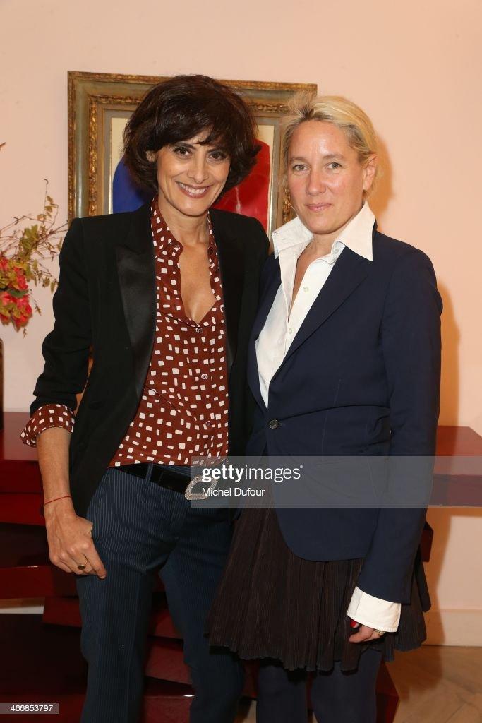 Ines de la Fressange and Alexandra Senes attend 'Le Paris Du Tout Paris' Book Presentation At Maison Roger Vivier on February 4 2014 in Paris France