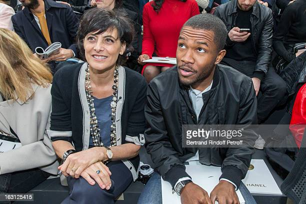 Ines de la Fressange and Frank Ocean attend the Chanel Fall/Winter 2013 ReadytoWear show as part of Paris Fashion Week at Grand Palais on March 5...