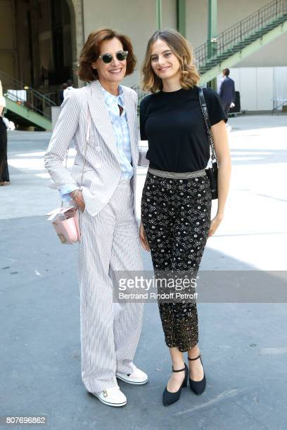 Ines de la Fressange and her daughter Violette d'Urso attend the Chanel Haute Couture Fall/Winter 20172018 show as part of Haute Couture Paris...
