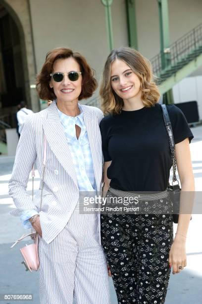 Ines de la Fressange and her daughter Violette d'Urso attend the Chanel Haute Couture Fall/Winter 20172018 show as part of Haute Couture Paris...