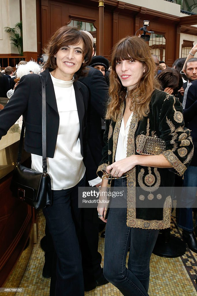 Ines de la Fressange and <a gi-track='captionPersonalityLinkClicked' href=/galleries/search?phrase=Lou+Doillon&family=editorial&specificpeople=208822 ng-click='$event.stopPropagation()'>Lou Doillon</a> attend the Chanel show as part of the Paris Fashion Week Womenswear Fall/Winter 2015/2016 on March 10, 2015 in Paris, France.