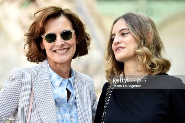 Ines de la Fressange and Violette Marie d'Urso attend the Chanel Haute Couture Fall/Winter 20172018 show as part of Haute Couture Paris Fashion Week...