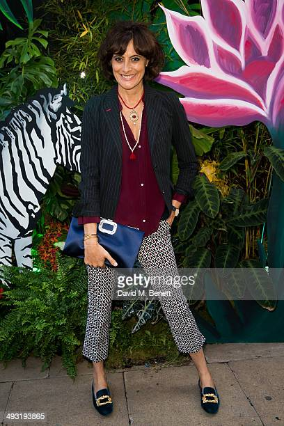 Ines de la Fressange arrives at Roger Vivier Summer Party at Loulou's on May 22 2014 in London England