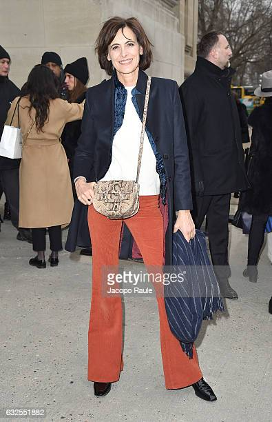 Ines de La Fressange arrives at the Chanel Fashion Show during Paris Fashion Week Haute Couture F/W 20172018 on January 24 2017 in Paris France