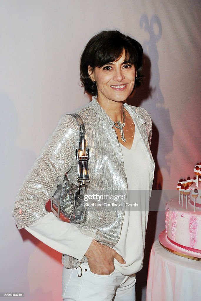 Ines de la Fressange attends 'Madame Figaro' 30th Anniversary Party at Salle Wagram in Paris.