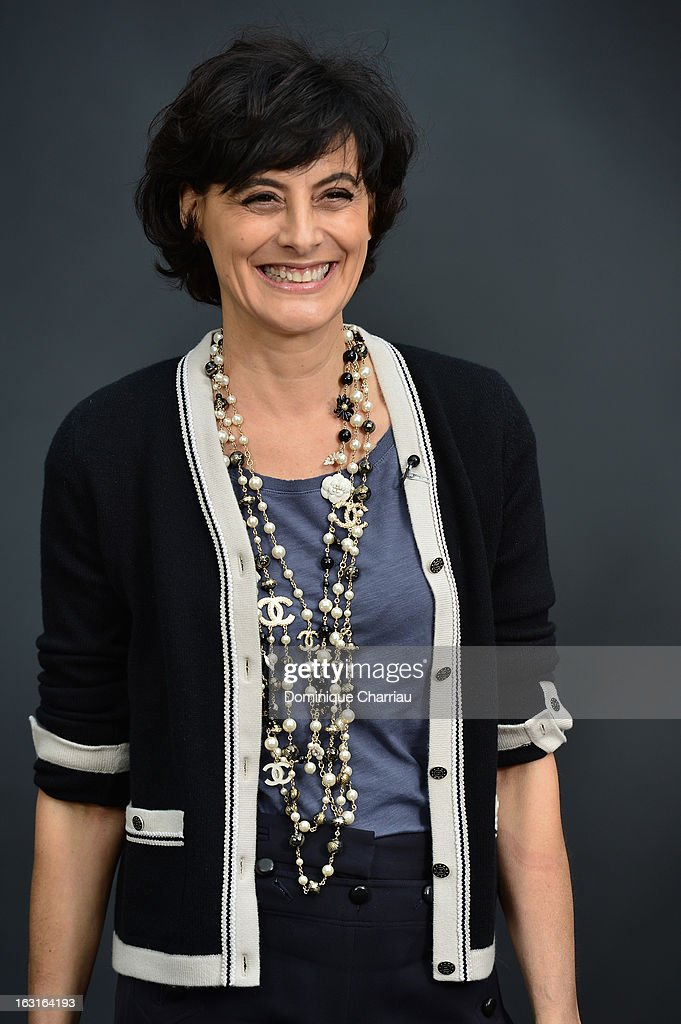Ines de la Fressange attends the Chanel Fall/Winter 2013 Ready-to-Wear show as part of Paris Fashion Week at Grand Palais on March 5, 2013 in Paris, France.