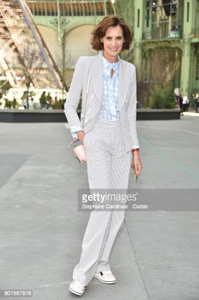 Ines De La Fressange attends the Chanel Haute Couture Fall/Winter 20172018 show as part of Haute Couture Paris Fashion Week on July 4 2017 in Paris...