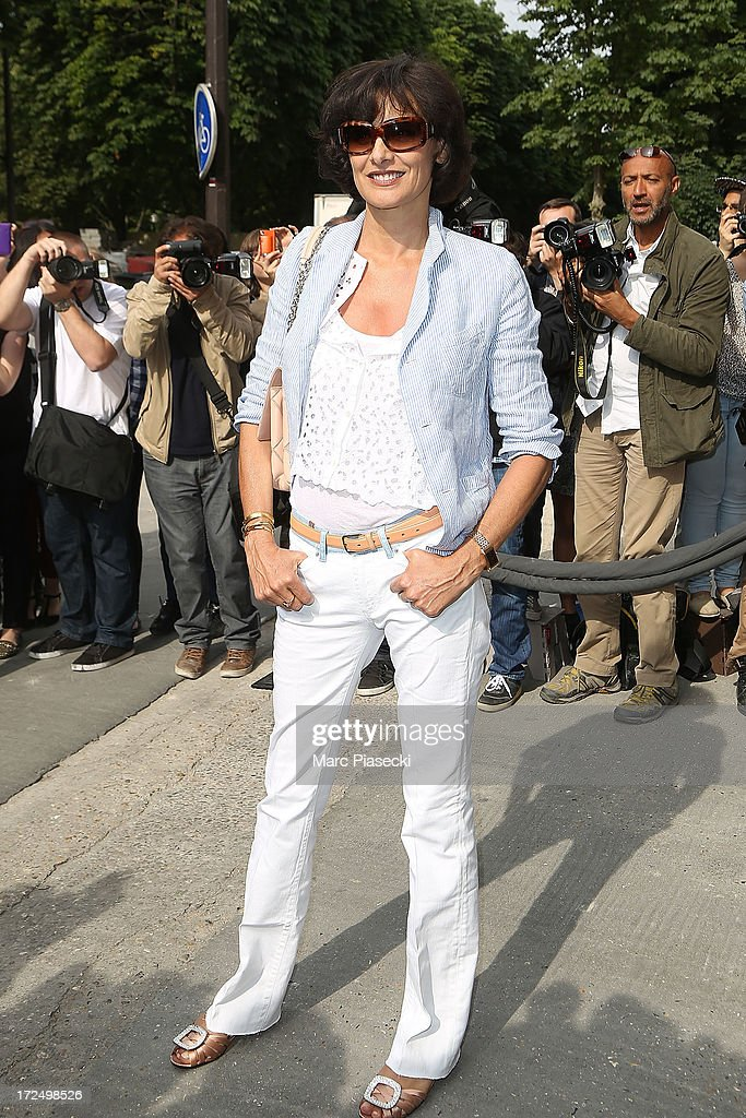 Ines de la Fressange attends the Chanel show as part of Paris Fashion Week Haute-Couture Fall/Winter 2013-2014 at Grand Palais on July 2, 2013 in Paris, France.