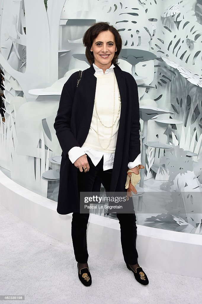 Ines de La Fressange attends the Chanel show as part of Paris Fashion Week Haute Couture Spring/Summer 2015 on January 27, 2015 in Paris, France.