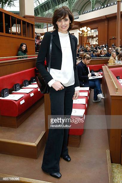 Ines de la Fressange attends the Chanel show as part of the Paris Fashion Week Womenswear Fall/Winter 2015/2016 on March 10 2015 in Paris France