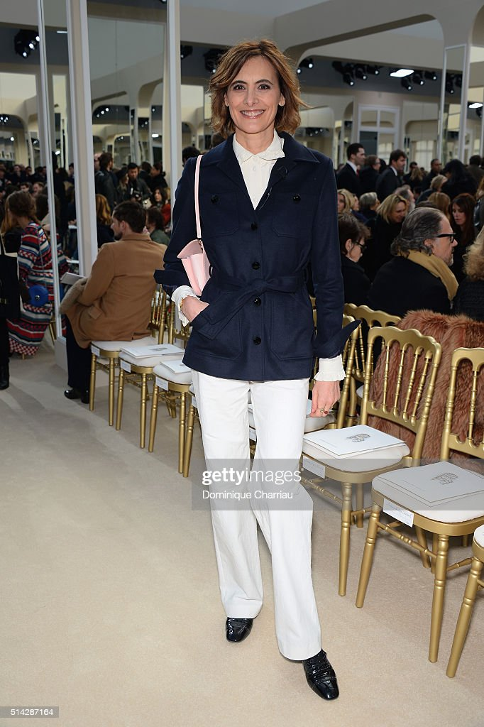 Ines de la Fressange attends the Chanel show as part of the Paris Fashion Week Womenswear Fall/Winter 2016/2017 on March 8 2016 in Paris France