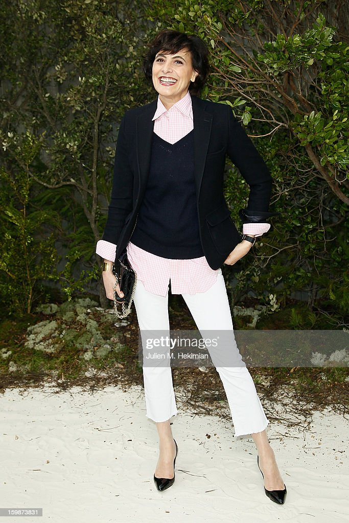 Ines de la Fressange attends the Chanel Spring/Summer 2013 Haute-Couture show as part of Paris Fashion Week at Grand Palais on January 22, 2013 in Paris, France.
