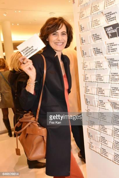 Ines de La Fressange attends the 'Entendu Au Bon Marche' Loic Prigent Book Launch Cocktail Fest Noz at Bon Marche on February 28 2017 in Paris France