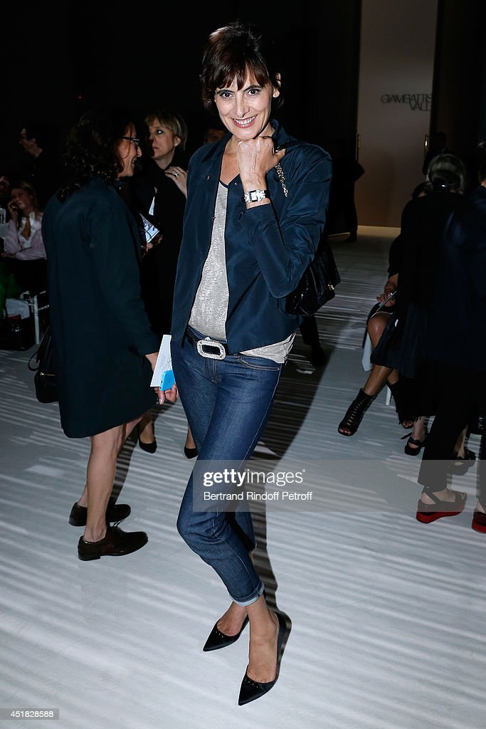 Ines de la Fressange attends the Giambattista Valli show as part of Paris Fashion Week - Haute Couture Fall/Winter 2014-2015 on July 7, 2014 in Paris, France.