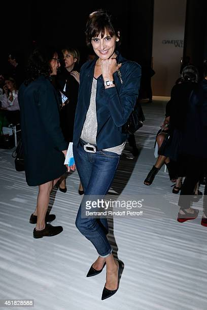 Ines de la Fressange attends the Giambattista Valli show as part of Paris Fashion Week Haute Couture Fall/Winter 20142015 on July 7 2014 in Paris...