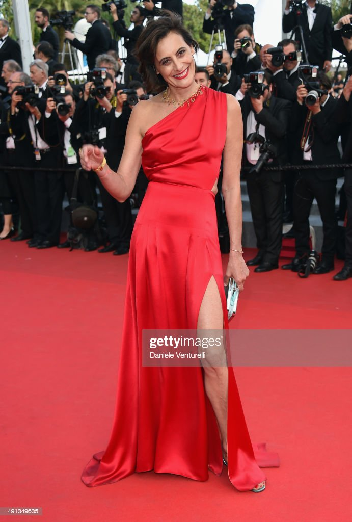 Ines de La Fressange attends the 'How To Train Your Dragon 2' Premiere at the 67th Annual Cannes Film Festival on May 16 2014 in Cannes France