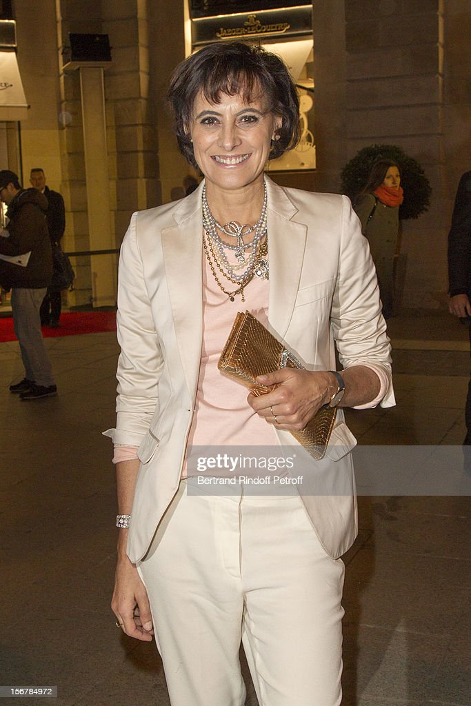 Ines de la Fressange attends the Jaeger-LeCoultre Vendome Boutique Opening at Jaeger-LeCoultre Boutique on November 20, 2012 in Paris, France .