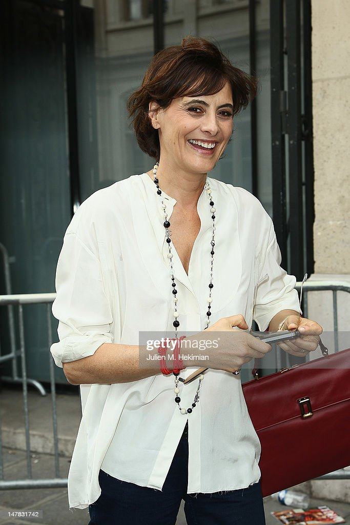 Ines de la Fressange attends the Jean-Paul Gaultier Haute-Couture Show as part of Paris Fashion Week Fall / Winter 2012/13 on July 4, 2012 in Paris, France.