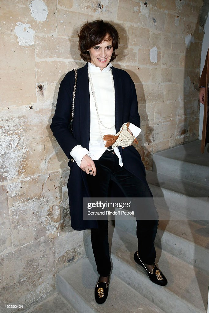 Ines de La Fressange attends the launch of Elie Top first 'Mechanique Celestre' collection at Gallerie Mitterrand on January 27, 2015 in Paris, France.