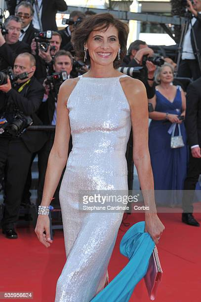 Ines de la Fressange attends the 'Mr Turner' premiere during the 67th Cannes Film Festival