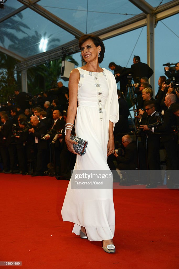 Ines de la Fressange attends the Opening Ceremony and 'The Great Gatsby' Premiere during the 66th Annual Cannes Film Festival at the Theatre Lumiere on May 15, 2013 in Cannes, France.